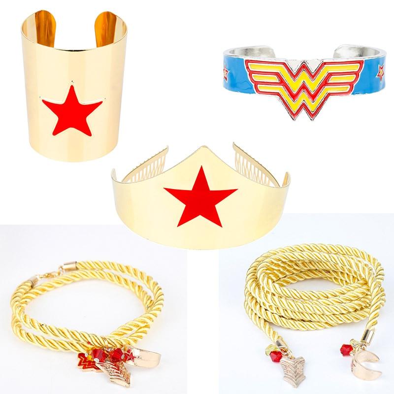 dongsheng Wonder Woman Bracelet In Charm Bangles Wonder Woman Bangles Colorful Enamel Cuff Bracelets For Women Gift -25(China)
