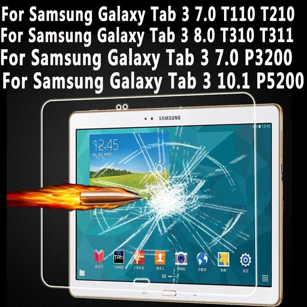 цена на Tempered Glass For Samsung Galaxy Tab 3 7.0 8.0 10.1 Screen Protector for Samsung Galaxy Tab 3 T110 T210 T310 P3200 P5200 Glass