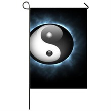 Glowing Yin and Yang Garden flag Seasonal Flags Weatherproof Decoration garden flags party home house decorations