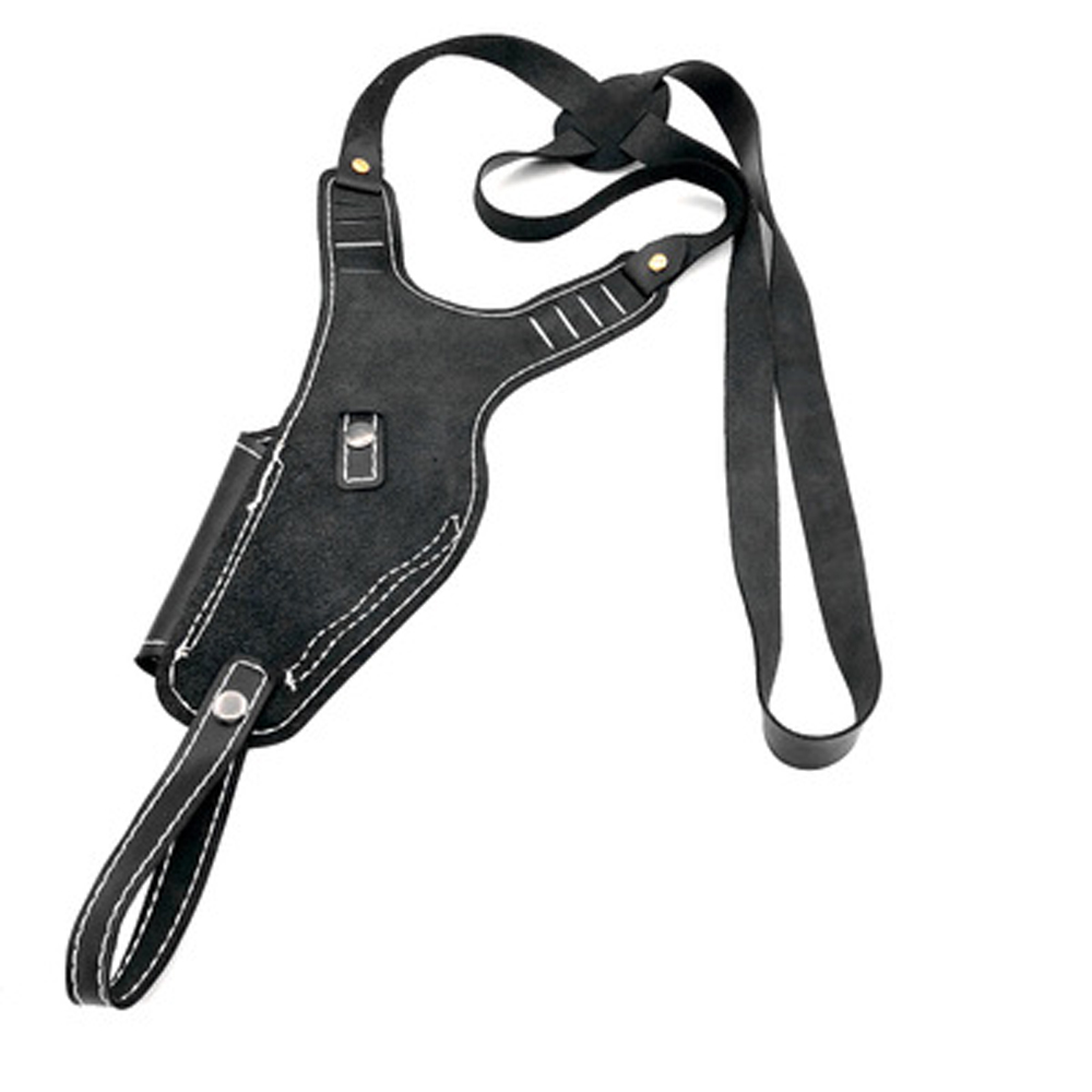 Airsoft Vertical Genuine Leather Shoulder Holster Right Hand Gun Holster Fits Frame Auto Handguns Cowhide Gun Bag