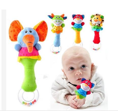 Babyfans New four fashionable design handbells rattles environmental safty font b and b font educational baby