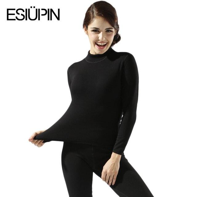 Plus Size M-XXL Women winter thermal underwear suit thick velvet ladies thermal underwear women clothing female long johns YP70