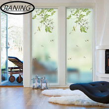 Watercolor flower window sticker balcony sill bedroom translucent opaque bathroom living room toilet glass foil
