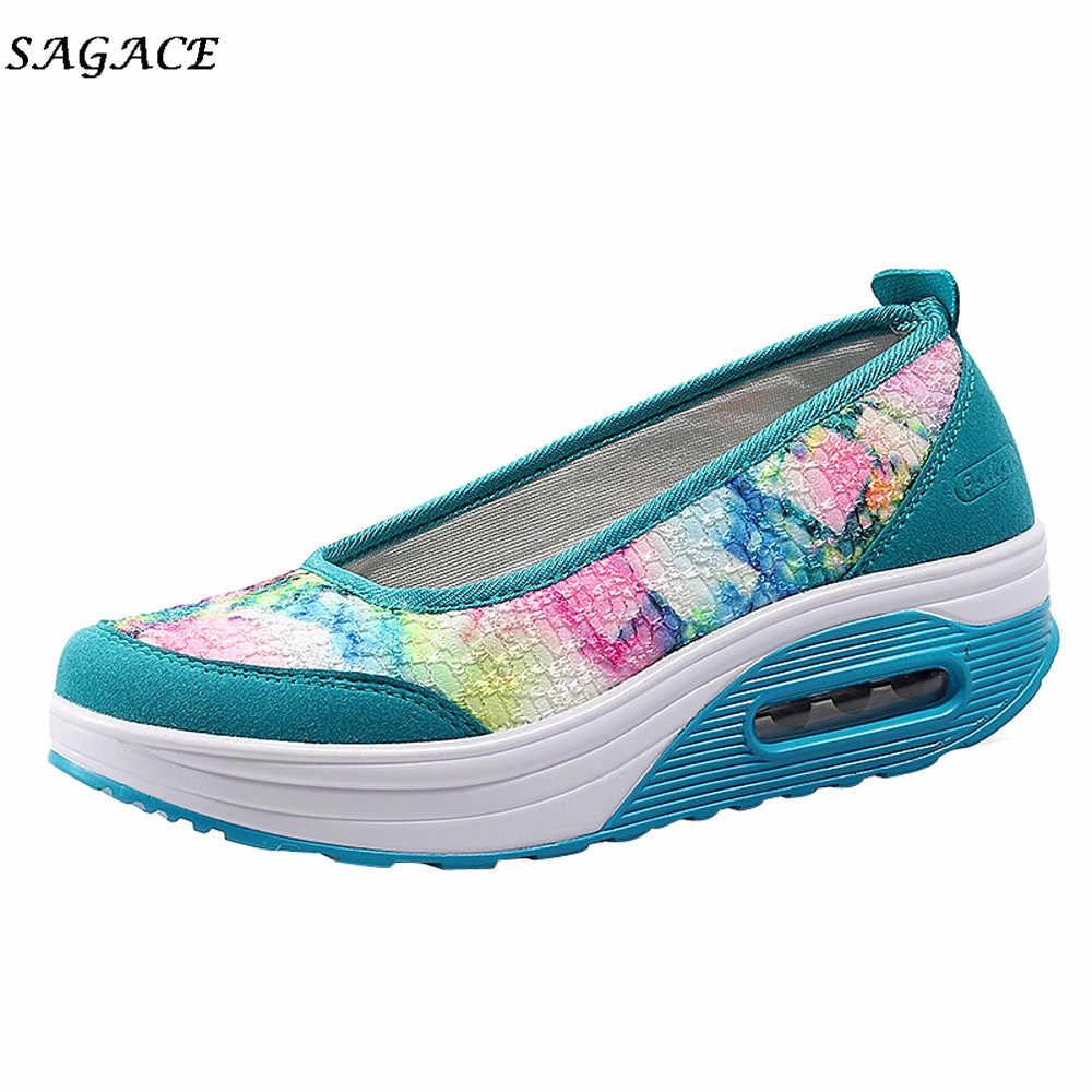 CAGACE ผู้หญิง Aqua Breathable รองเท้าฤดูร้อนใหม่ Air Cushion รองเท้าพื้นผิวสุทธิรองเท้า Lady ต้นน้ำ Breathable รองเท้าผ้าใบ