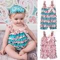 2016 Moda Bebê Recém-nascido Menina infantil Rompers Sunsuit Bonito Floral Macacão Outfits Roupas