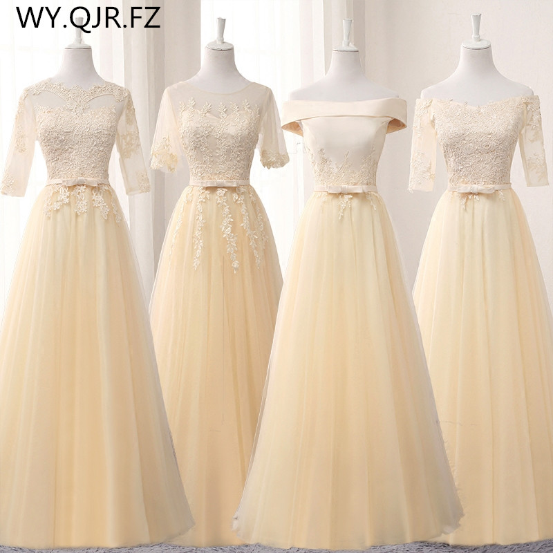 BSY0808X#Champagne long middle short lace up   Bridesmaid     Dresses   wedding party prom   dress   2019 spring wholesale fashion clothing