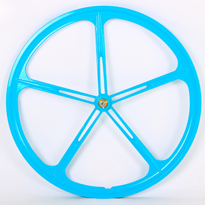 Magnesium Alloy 700C wheel bike 5 spokes fixie Bicycle Mag TRI front rear wheel Mag Alloy Fixed gear bike wheels Rims 1pcs magnesium alloy single speed fixed gear bike wheels 700c road racing venues inch wheel bicycle accessories