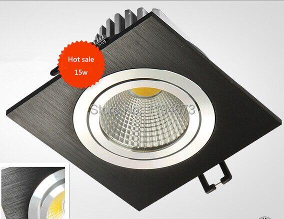 Бесплатная доставка 15 Вт затемнения удара утопленное потолочный светильник Алюминий Materail 85-265 В Spot LED квадратного потолок освещение