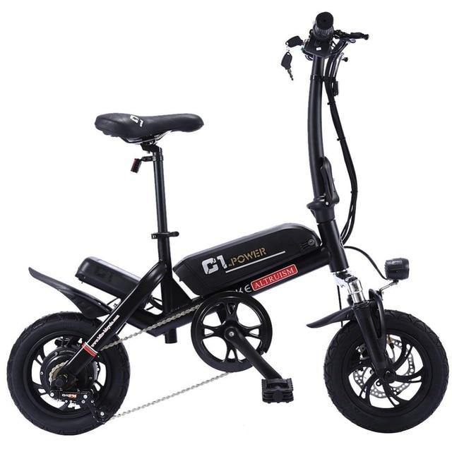 Альтруизм C1 электрические велосипеды Для мужчин 250 w складные Электровелосипеды для взрослых 36 v E велосипед для взрослых Для женщин Ebike дисковые тормоза велосипеда