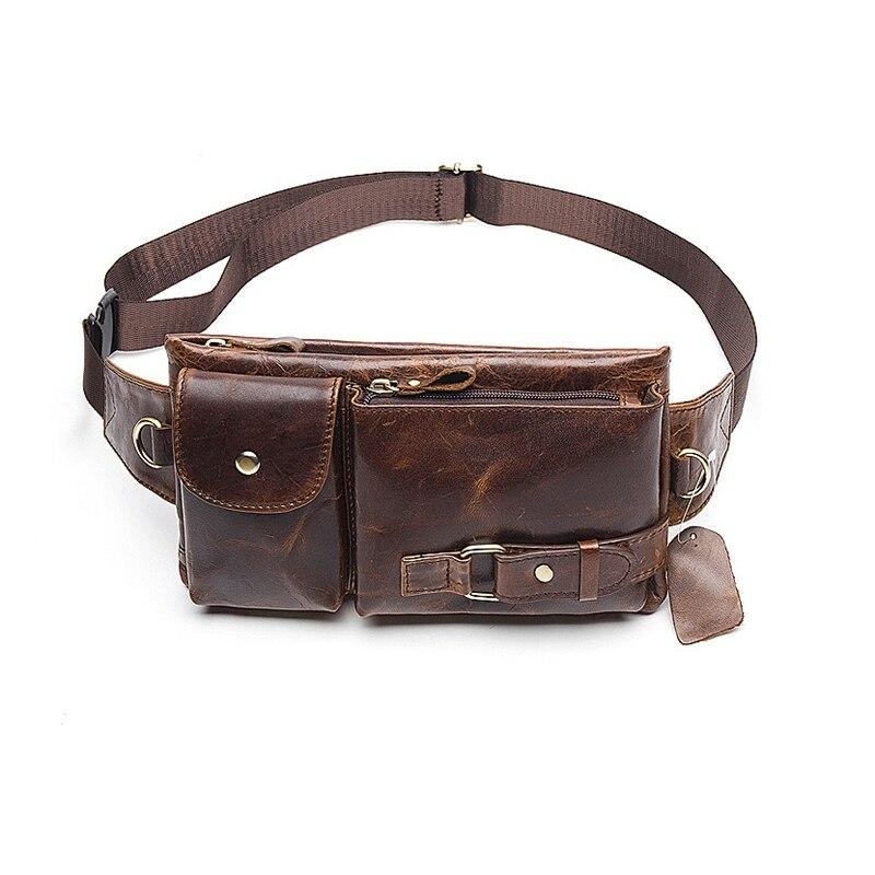 Mva мужские карманы кожаные карманы сумка для телефона Ретро повседневные Карманы - Цвет: Oil Coffee