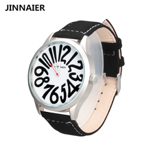 JINNAIER Relojes para hombre Marca de Lujo Ocasional de Cuarzo Militar Deportes Reloj de pulsera de Cuero Mujeres Del Reloj Señoras reloj relogio masculino