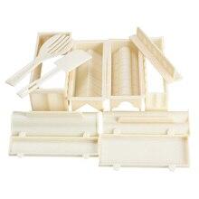 11 teile/satz DIY Sushi Maker Reis Form Küche Sushi Werkzeugbau Set Packung von 11, sushi form, kochen werkzeuge, Set für sushi-rolle