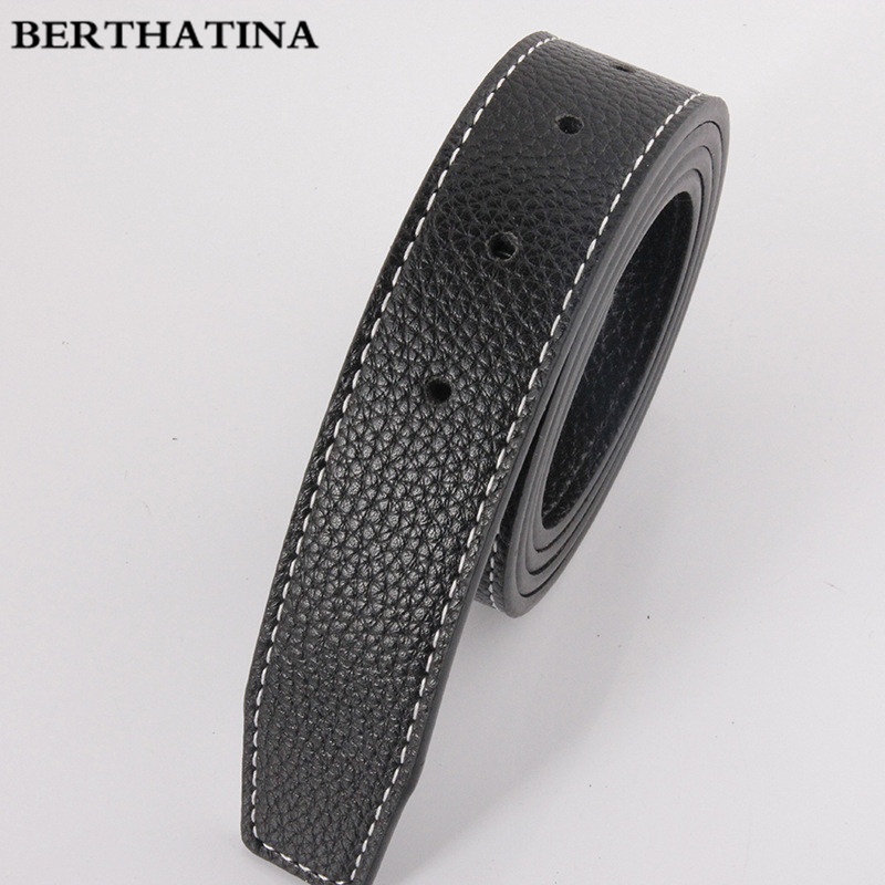 BERTHATINA No Buckle Belts Brand H Belts Men High Quality Male Genuine Real Leather Strap for Jeans SMOOTH Belt Erkek Kemer