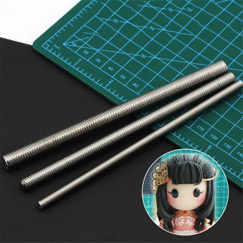 3 шт. глины Скульптура текстура волос специальный инструмент текстуру эффект инструмент, пригодный для куклы ручной работы Инструменты