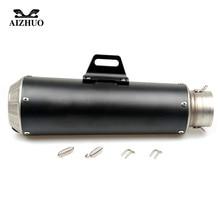 36-51MM Motorcycle Universal Exhaust Pipe Muffler FOR yamaha tracer 900 fz1 fazer xmax 125 r25 mt09 MT 09 YBR 125 YZF R15 цены онлайн