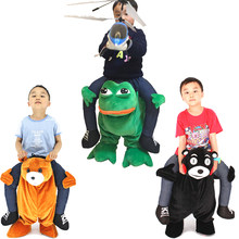 Funny Animal Cosplay Pants Ride On Bear Frog Monkey Santa Mascot Costume Fancy Dress Halloween Costumes Children's Birthday Gift(China)