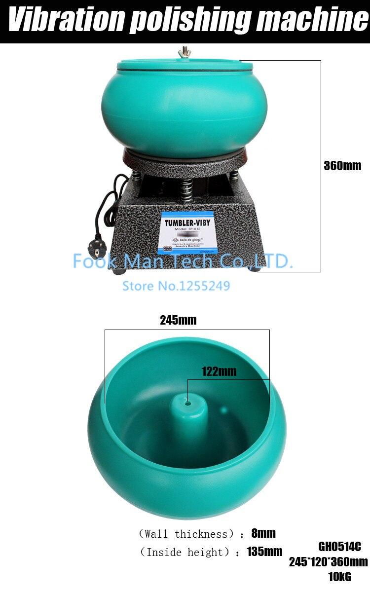 Promotion!!! 12L Bijoux Machine Vibrant Tumbler, Vibrant rock tumbler, machine à polir Vibrations