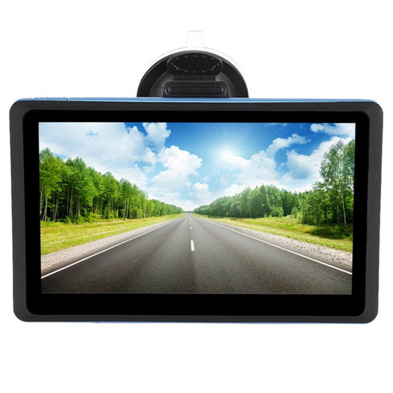7 Inch HD Car GPS Navigation WinCE 4GB Touchscreen Free Lastest Map for RU Europe US CA NZ Israel Sat nav Truck GPS Navigator