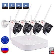 Tonton 1080P 8CH NVR Wireless CCTV System 1TB HDD Outdoor Weatherproof 2MP 4PCS Security IP Cameras PIR Sensor Surveillance Kit