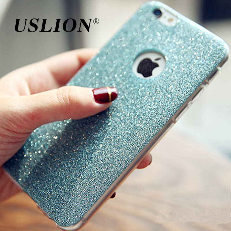 Luxury Glitter Phone Case For Apple iPhone 5 5s SE 6 6s 7 7 Plus Bling Matte Soft TPU Back Cover Cases Coque For iPhone</f