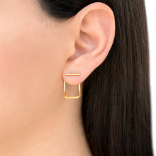 aiboduo Creative Minimalist Geometric Earrings For Women Fashion Simple Metal Square Girl Earing Female Jewelry Accessories