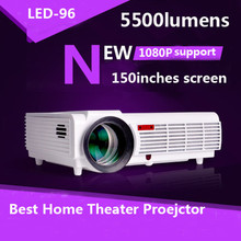 LED Home Cinema Android 4.4 WiFi 3D Projector with 5500lumens Brightness Smart Multimedia LCD Video Games HDMI D-TV Proyector