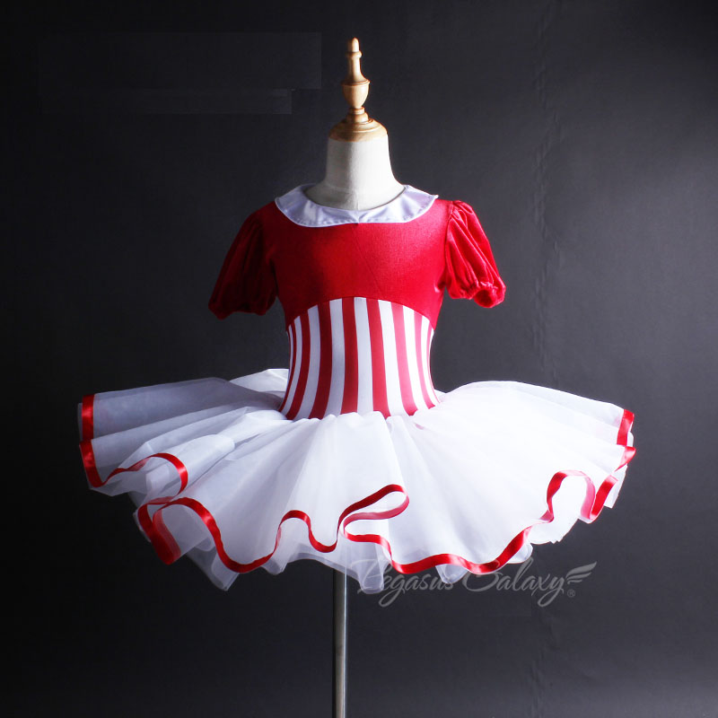 Adult Ballet Dance Costume Red Strip Ballet Tutu Leotard For Women Ballerina Children Swan Lake Costume Ballet Dress For Girls