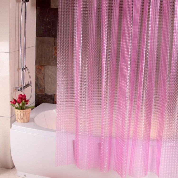 3D three-dimensional crystal 180*180cm PEVA Bathroom shower curtain Mildew Proof thick waterproof fabric bathroom curtain