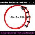 Rojo Manga 5X Molex de $ Number Pines Molex Macho a Ángulo Recto Conector Hembra Adaptador de Corriente Cable de 60 cm