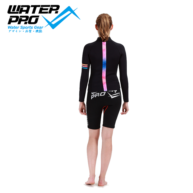 Water Pro 3mm leather flexa jacket-Trio for Women