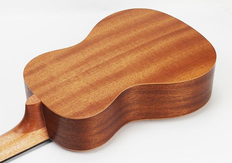 SevenAngel 21 pouces ukulélé acajou Soprano guitare de voyage Hawaii 4 cordes Ukelele électrique acoustique Gitar avec ramassage EQ - 6