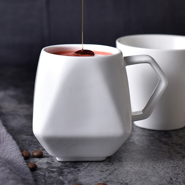 Mug design diamant en céramique blanc Tasses et Mugs Cocooning.net