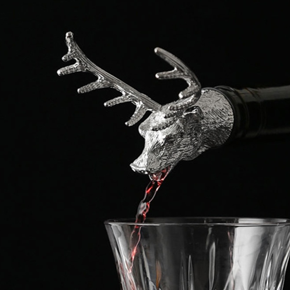 Unique Wine Bottles: Mealivos Stainless Steel Deer Stag Head Wine Pourer Unique