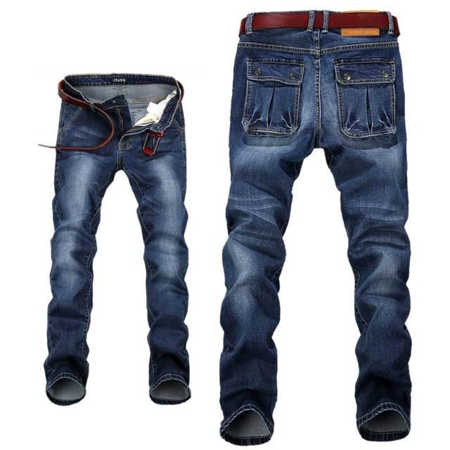 Hombres Relaxed Fit Straight Leg Jeans Elásticos Pantalones de Mezclilla para Hombres de Talla Grande 28-42 44 46 48