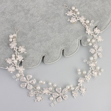 Dower me Shine Silver Color Bridal Headband Hair Jewelry Rhinestone Wedding Tiara Hair Accessories J817