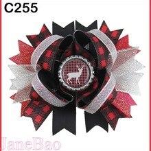25 шт. рождественские банты для волос карамельный тростник бант Санта заколка для волос олень праздник веселая Рождественская бабочка-B