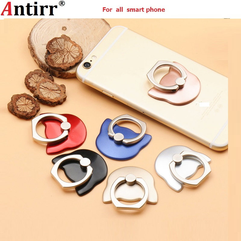 Cat Finger Ring Holder Mini Cute Plastic PC Phone Holder For Iphone Sumsung 360 Rotation Finger Ring Holder