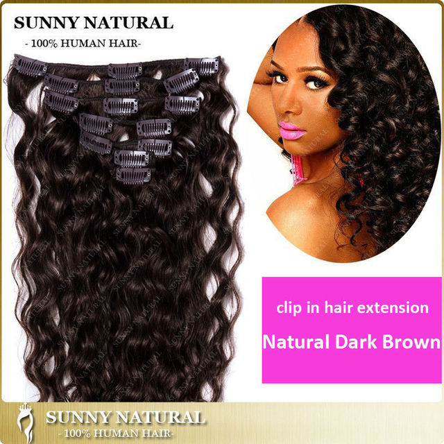 Curly Clip In Hair Extension For Black Women 7pcs 100g120g160g