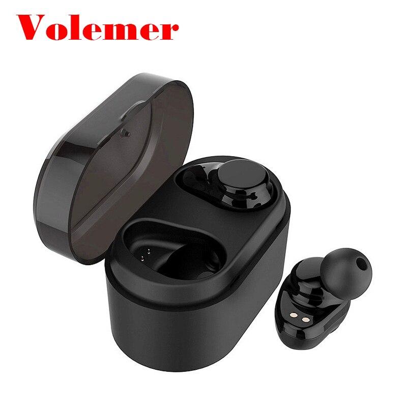 Volemer X7 TWS Bluetooth Earphone True Wireless Stereo Earbuds Sweatproof Bluetooth Headset for Phone Bluetooth fone de ouvido headset bluetooth fones de ouvido bluetooth wireless earbuds in ear fone de ouvido bluetooth mini bluetooth headset qcy50
