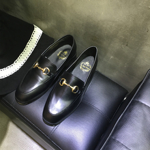 England Women Flat Shoes Slip On Loafers Fashion Round Toe Shoes Woman Moccasins Female Footwear