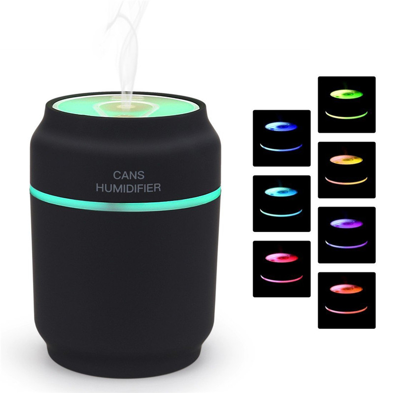 3 in 1 Aroma Diffuser Cans Car Humidifier Mini Air Purifier Aromatherapy Essential Oil Diffuser LED Night Light USB Fan Fogger mini essential oil aromatherapy diffuser electric car aroma diffuser usb air humidifier purifier led mini air humidifier usb
