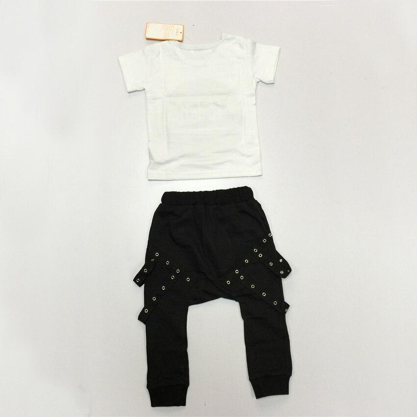 a796489247e30 US $6.06 49% OFF EABoutique Sommer Neue Mode rock punk stil Kleinkind baby  jungen kleidung set tscheiße mit Pluderhosen 2 stück set in EABoutique ...