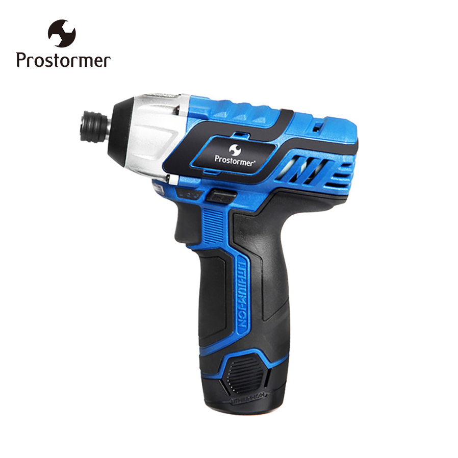 Prostormer 100NM Electric Screwdriver 12V Cordless drill Lithium Battery Rechargeable Hexagon Power Cordless screwdriver screw цена