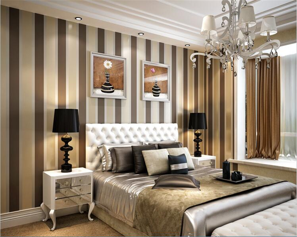 . beibehang Modern minimalist stripes non woven living room bedroom  background wall paper papel de parede wallpaper hudas beauty