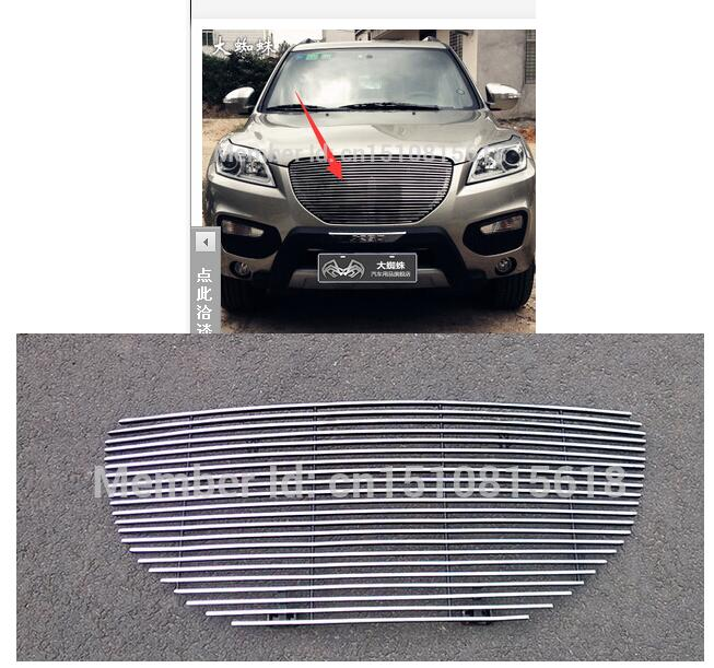 Quality Stainless steel Car front bumper Mesh Grille Around Trim Racing Grills for 2011-2014  for Lifan X60 TOP abs chrome front grille around trim racing grills trim for 2013 hyundai santa fe ix45