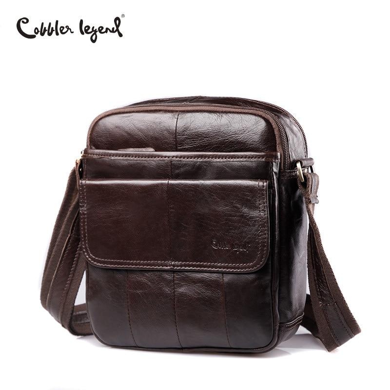 Cobbler Legend 2019 Men Messenger Bag Men Genuine Leather Shoulder Bag Designer Famous Brand Business Crossbody Bag for Men