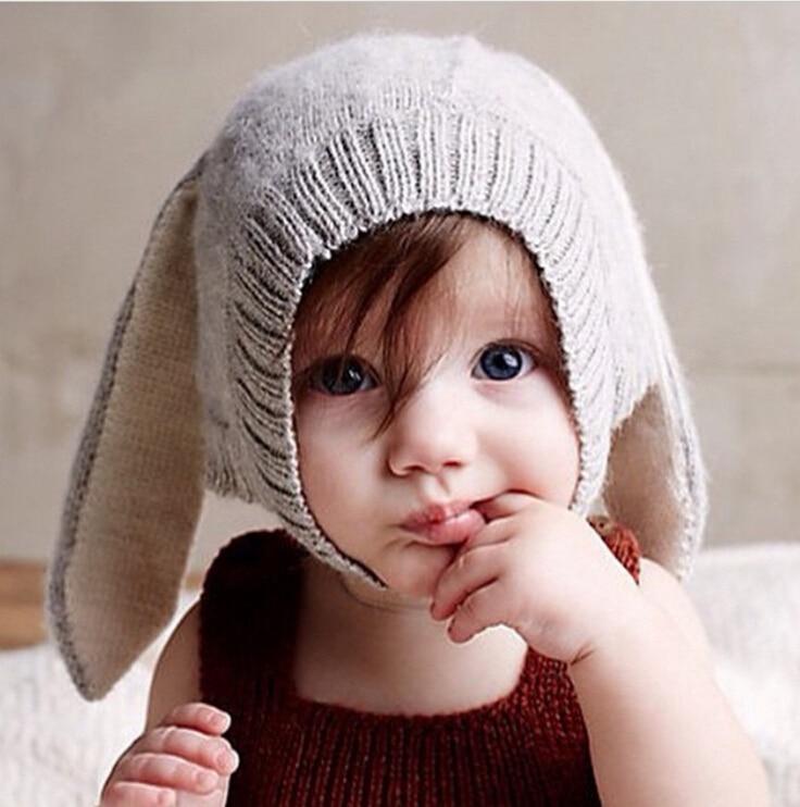 Monocrome III Baby-Hat-Autumn-Winter-oeuf-nyc-Cute-Kids-Hat-with-Long-Rabbit-Ear-Boy-Cap-Girl