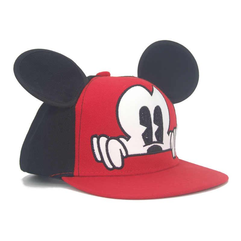 05c6cb97e3d10 ... 2018 Hot Mickey ear hats children snapback Caps baseball Cap with ears Funny  Hats spring summer ...