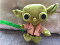 Hot Star Wars Yoda figure plush toy 18cm soft Stuffed Doll mini anime character the force awakens children gift free shipping