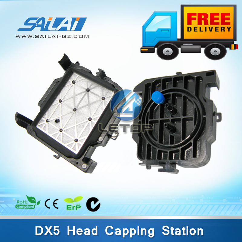 Free shipping!!!4pcs/lot dx5 printhead dx5 capping station for Mimaki JV33 JV5 JV34 Mutoh VJ1604/VJ1618 Solvent based mutoh vj 1604w rj 900c water based pump capping assembly solvent printers